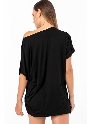 Emjey Yusufcuk Desenli T-Shirt Siyah